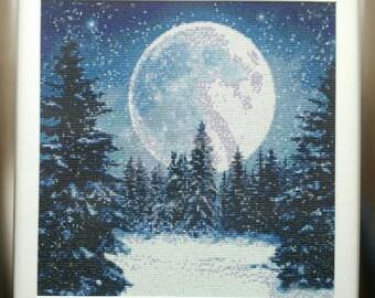 Handmade painting, diamond painting, 40 x 40 cm