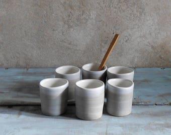 Liqueur glasses hand made porcelain espresso cups