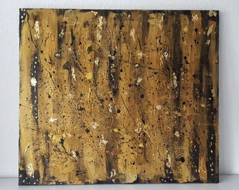 Painting in black and gold 70 x 80
