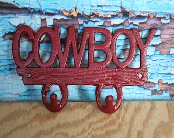 Cast Iron Cowboy key hook