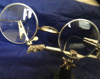 Antique Round Silver Wire Frame Glasses