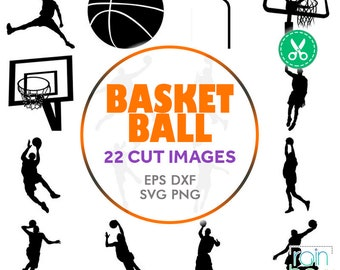 Basketball Clipart, Basketball Svg Files, Basketball Decal, Basketball Player, Basketball Monogram Svg, Digital Cut Files, Commercial Use