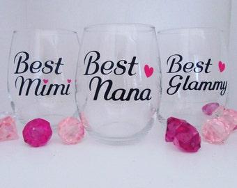 Best Grandma wine glass, best nana wine glass, best glammy wine glass, best mimi wine glass