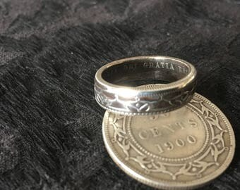 Custom Made Silver NewFoundland Coin Ring