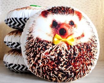 Hedgehog plush, Hedgehog gifts, Hedgehog stuffed animal, Baby shower gift, Hedgehog pillows, Gifts for hedgehog lovers, YELLOW