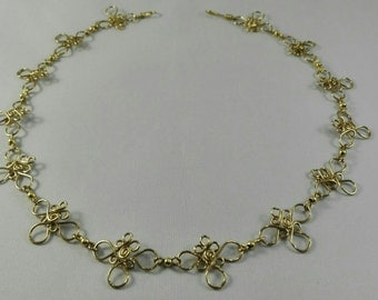 Brass Flowers Necklace