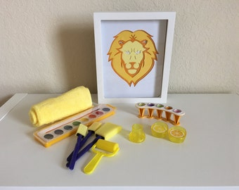 Frame Yellow Lion