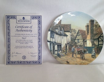 Wedgwood, Ripple, The Charm of the English Village Series, Ceramic Plate