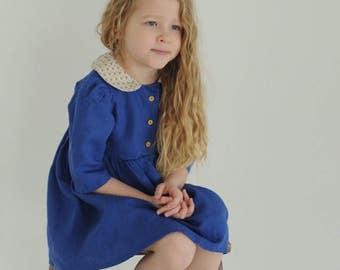 linen dress for girl,  cotton dress for girl, dress for girl