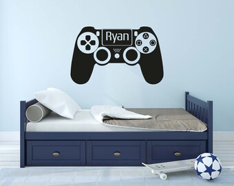 Personalised Playstation Controller - Wall Decal Wall Sticker - Home - Games Room - Boys Room - Gamer - Playstation - Xbox