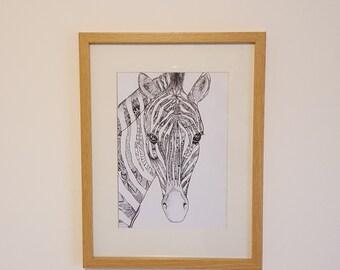 Zebra doodle print