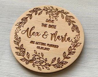 Christmas Wedding Invitations Wedding Save the Date Magnets Wedding Save the Date Rustic Wedding Invites Wooden Save the Date Wooden Wedding