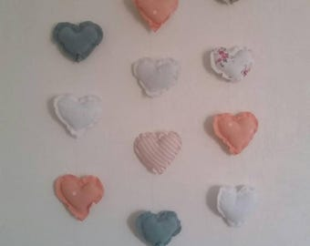 Wall decoration, children's room, driftwood, heart