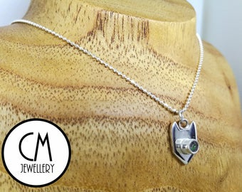 Sterling Silver Mystic Kitty Pendant