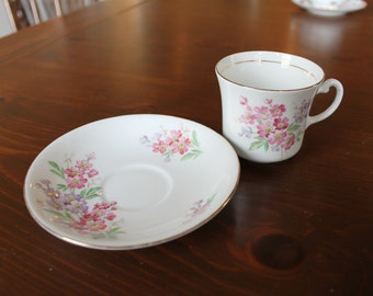 Vale bone china, made in longton england, cup and saucer