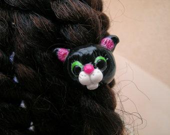 jewel hair frizzy dreadlocks black cat