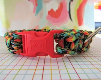 Multicoloured Hand Woven Dog Collar