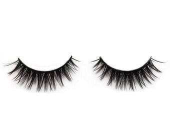 Thick Full Flare False Eyelashes Double Up Vegan Beauty Makeup Synthetic Eye Lash Accessory