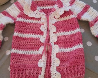 Wool vest cotton 12 to 18 months crochet baby