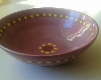Purple flower bowl