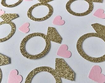 Engagement Ring Confetti, Heart Confetti, Ring Confetti, Bridal Shower Confetti, Engagement Party, Confetti, Party Confetti, Invitation