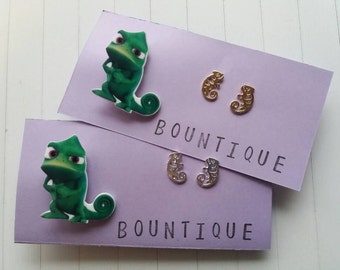 Pascal inspired cameleon brooch and earring set