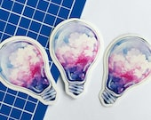Cloud light bulb sticker