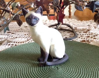 Vintage Siamese Cat Figurine/ Andrea by Sadak Japan