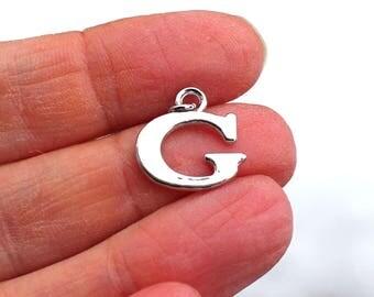 One Letter G, Alphabet Charm, G, Letter G