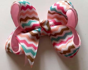 Toddler twisted boutique bow-hair clip