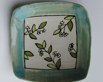 Handmade Ceramic Plate~ Pottery Plate, Dinner Plate,  Pasta Plate, Pasta Bowl