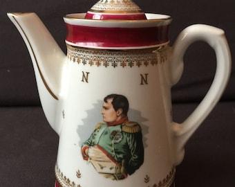 Vintage porcelain jug Napoleon and Josephine 1960