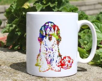 Cavalier King Charles Spaniel  mug - dog mug - Colorful printed mug - Tee mug - Coffee Mug - Gift Idea
