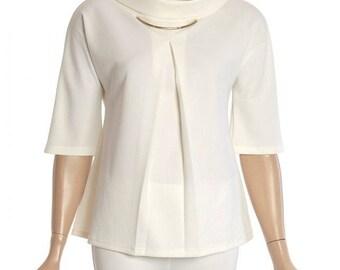 Women trend fashion beige extravaganza  top