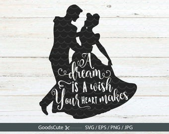 Cinderella SVG, Cinderella Quote SVG Files Vector for Silhouette Cricut Cutting Machine Design Download Print