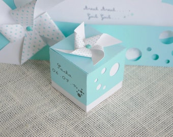 box dragees windmill color mint bubbles theme