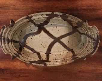 Unique Handmade Glazed Pottery Dish/Platter