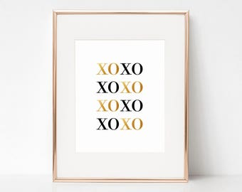 XOXO, 11x14 Digital Download Prints, Wall Art, Home Office, Arbor Grace Collections