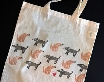 Shopper bag puppies-animal lovers collection-