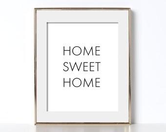 Home Sweet Home Printable Poster Digital Download Printable Art Heart Zen Art Nursery Wall Picture Playroom Decor Write Print Trendy Design