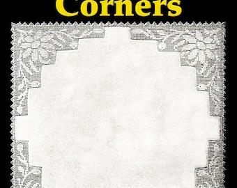 Daisy Lace Corners Filet Crochet Pattern