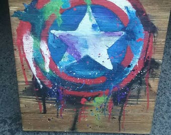 Captain America Splatter Sign