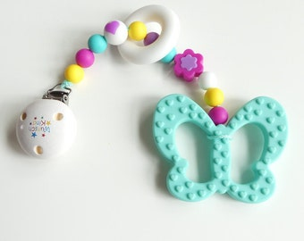 Biting chain silicone colorful Butterfly