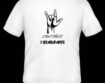 Devil's horns/ Heavy metal/ Hard rock T-shirt