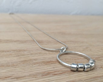 Sterling Silver Necklace No. 1 - Geometric - Modern - Handmade