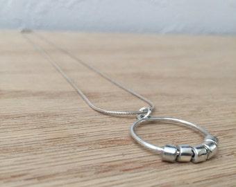 Sterling Silver Necklace No. 1 - Geometric - Modern - Handmade