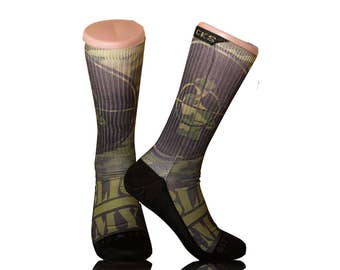 Handmade Sublimated Socks style Public Enemy Camouflage