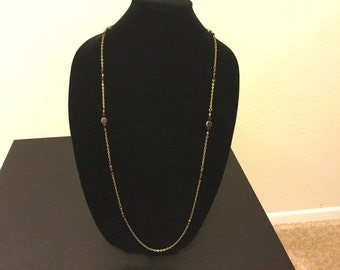 Antique gold and maroon necklace