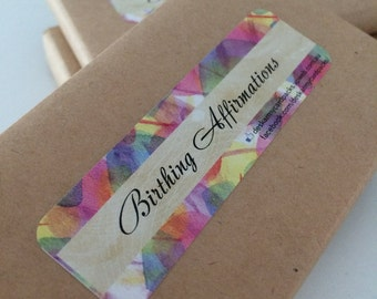 Birthing affirmation cards 30 pack