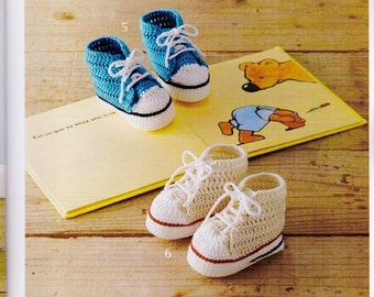 Crochet Baby Shoes - 33 Crochet Patterns - Happy Baby Shoes - Japanese Craft book - Instant download